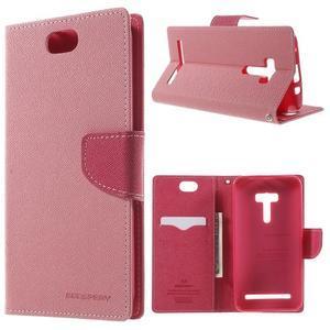 Mr. Goos peněženkové pouzdro na Asus Zenfone Selfie ZD551KL - růžové - 1