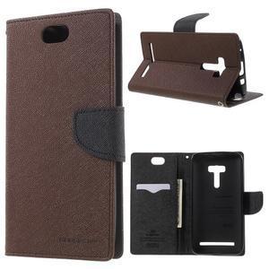 Mr. Goos peněženkové pouzdro na Asus Zenfone Selfie ZD551KL - hnědé - 1