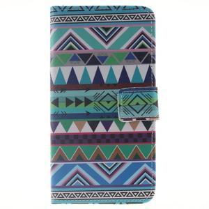 Peněženkové pouzdro pro mobil Honor 5X - geo tvary - 1