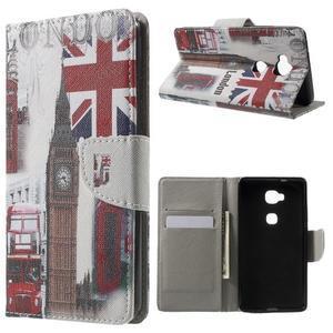 Emotive PU kožené pouzdro na mobil Honor 5X - Velká Británie - 1