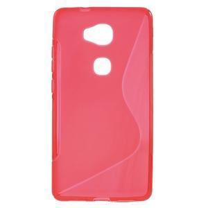 S-line gelový obal na mobil Honor 5X - červený - 1