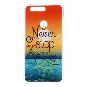 Emotive gelový obal na mobil Honor 8 - nepřestávej snít - 1