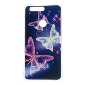Emotive gelový obal na mobil Honor 8 - kouzelní motýlci - 1