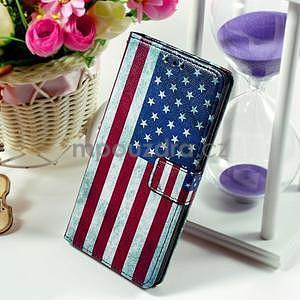 Peněženkové pouzdro Style pro Huawei Ascend P8 Lite - USA vlajka - 1