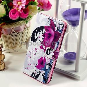 Peněženkové pouzdro Style pro Huawei Ascend P8 Lite - květy - 1