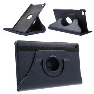 Otočné polohovatelné pouzdro na Huawei MediaPad M2 - tmavěmodré - 1