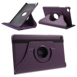 Otočné polohovatelné pouzdro na Huawei MediaPad M2 - fialové - 1