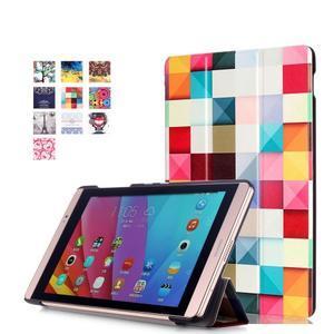 Třípolohové pouzdro na tablet Huawei MediaPad M2 8.0 - barevné kostičky - 1