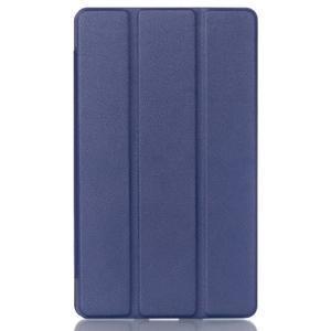 Trifold polohovatelné pouzdro na tablet Huawei MediaPad M2 8.0 - tmavěmodré - 1