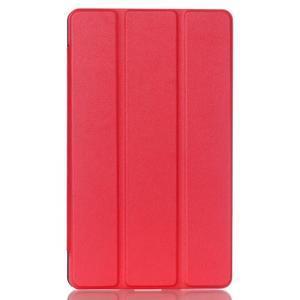 Trifold polohovatelné pouzdro na tablet Huawei MediaPad M2 8.0 - červené - 1