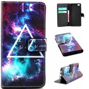 Standy peněženkové pouzdro na Huawei P8 Lite - triangle - 1