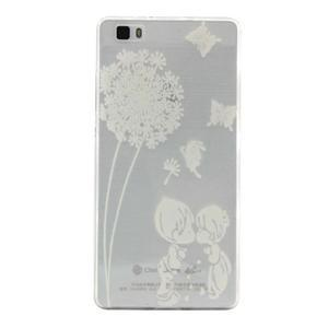 Transparentní gelový obal na Huawei P8 Lite - láska pod pampeliškou - 1