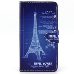Emotive pouzdro na mobil Huawei P8 Lite - Eiffelova věž - 1
