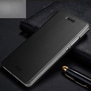Vintage PU kožené pouzdro na Huawei P8 Lite - černé - 1
