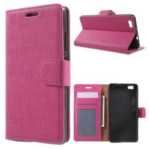 Clothy PU kožené pouzdro na mobil Huawei P8 Lite - rose - 1