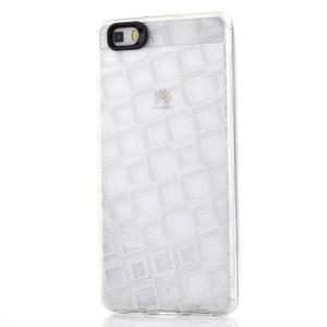 Square gelový obal na Huawei P8 Lite - transparentní - 1