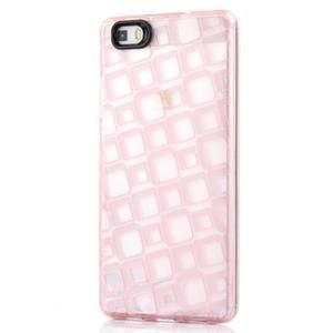Square gelový obal na Huawei P8 Lite - růžový - 1