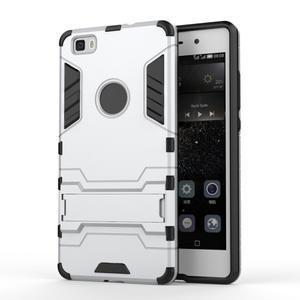 Odolný ochranný kryt na Huawei P8 Lite - stříbrný - 1