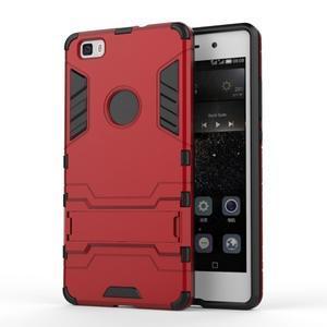 Odolný ochranný kryt na Huawei P8 Lite - červený - 1