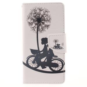 Leathy PU kožené pouzdro na Huawei P8 Lite - láska na kole - 1