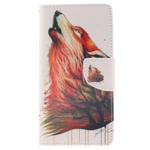 Leathy PU kožené pouzdro na Huawei P8 Lite - magický vlk - 1