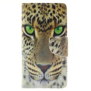 Leathy PU kožené pouzdro na Huawei P8 Lite - gepard - 1
