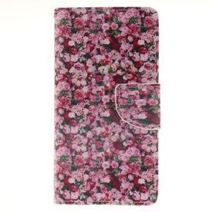 Leathy PU kožené pouzdro na Huawei P8 Lite - růže - 1