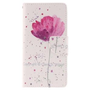 Leathy PU kožené pouzdro na Huawei P8 Lite - makový květ - 1