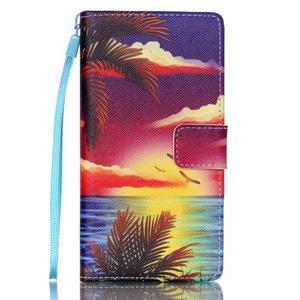 Picture PU kožené pouzdro na Huawei P8 Lite - plážová scenérie - 1