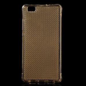 Diamonds gelový obal na Huawei P8 Lite - zlatý - 1