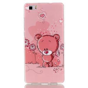 Softy gelový obal na mobil Huawei P8 Lite - medvídek - 1