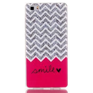 Softy gelový obal na mobil Huawei P8 Lite - smile - 1
