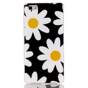 Softy gelový obal na mobil Huawei P8 Lite - sedmikrásky - 1