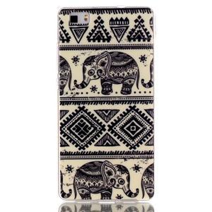 Softy gelový obal na mobil Huawei P8 Lite - slon - 1