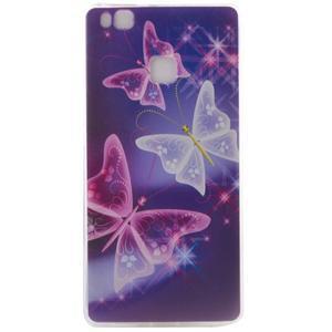 Ultratenký gelový obal na Huawei P9 Lite - kouzelní motýlci - 1