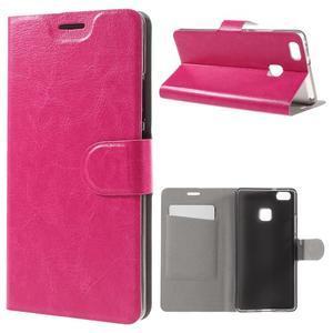 Horse PU kožené pouzdro na mobil Huawei P9 Lite - rose - 1