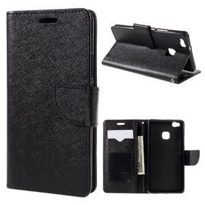 Easy peněženkové pouzdro na mobil Huawei P9 Lite - černé - 1