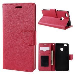 Easy peněženkové pouzdro na mobil Huawei P9 Lite - červené - 1