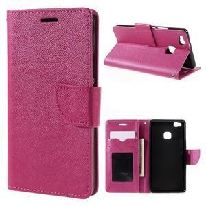 Easy peněženkové pouzdro na mobil Huawei P9 Lite - rose - 1