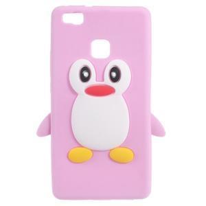 Silikonový obal na mobil Huawei P9 Lite - růžový - 1