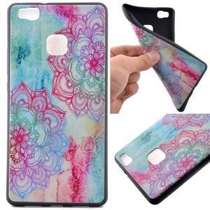 Softy gelový obal na mobil Huawei P9 Lite - lotus - 1