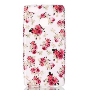 Emotive gelový obal na mobil Huawei P9 Lite - květiny - 1