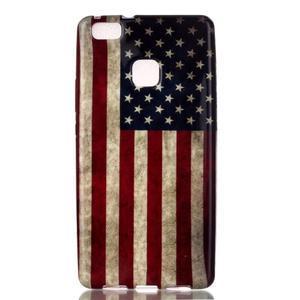 Emotive gelový obal na mobil Huawei P9 Lite - US vlajka - 1