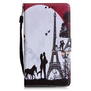 Emotive pouzdro na mobil Huawei P9 Lite - láska pod Eiffelovkou - 1