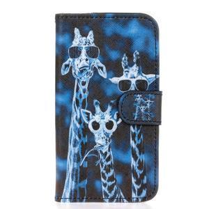Stylové peněženkové pouzdro na Huawei Y5 a Y560 - žirafí mafie - 1