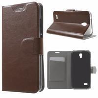 Horse peněženkové pouzdro na mobil Huawei Y5 a Y560 - hnědé - 1/7