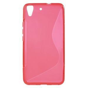 S-line gelový obal na mobil Huawei Y6 - červený - 1