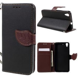 Leaf PU kožené pouzdro na mobil Huawei Y6 - černé - 1