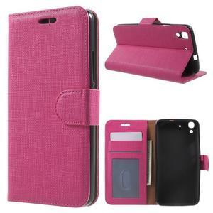 Clothy PU kožené pouzdro na Huawei Y6 - rose - 1
