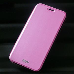Vintage PU kožené pouzdro na mobil Huawei Y6 - růžové - 1